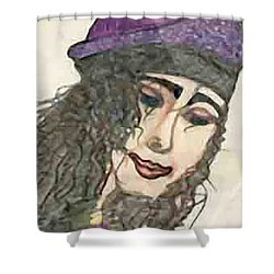 Purple Hat Shower Curtain