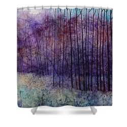 Shower Curtain featuring the painting Purple Haze by Hailey E Herrera