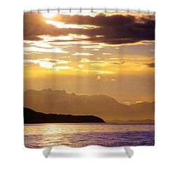 Orchid Sky Shower Curtain