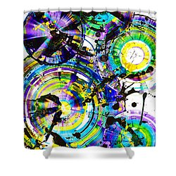 Purple Haze Spheres And Circles 1509.021413 Shower Curtain by Kris Haas