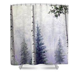 Purple Haze Shower Curtain by Stanza Widen