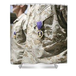 Purple Heart Recipients Shower Curtain by Stocktrek Images