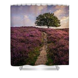 Purple Hill Shower Curtain