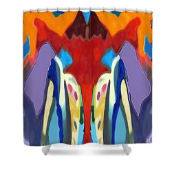 Purple Hoodies Shower Curtain