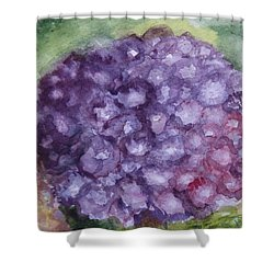 Shower Curtain featuring the painting Purple Hydrangea by Donna Walsh