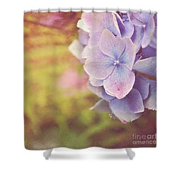 Shower Curtain featuring the photograph Purple Hydrangea by Lyn Randle