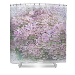Purple Hydrangeas Shower Curtain