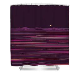 Purple Isles Shower Curtain