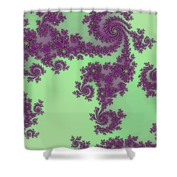 Purple Lace Shower Curtain