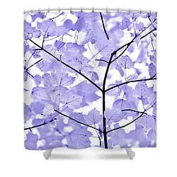 Purple Lavender Leaves Melody Shower Curtain by Jennie Marie Schell