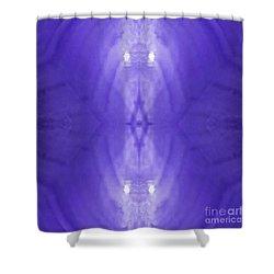 Purple Light Phantom  Shower Curtain by Rachel Hannah