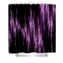 Purple Lightening Shower Curtain