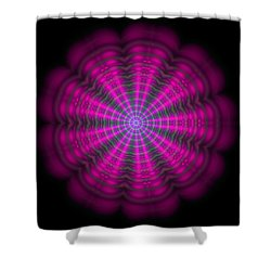 Shower Curtain featuring the digital art Purple Lightmandala Ripples by Robert Thalmeier