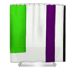 Purple Line Shower Curtain