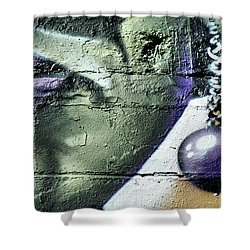 Purple Lips And Earring Shower Curtain