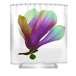 Purple Magnolia Shower Curtain