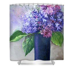 Purple Majesty Hydrandeas Shower Curtain