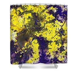 Purple Married Yellow Shower Curtain