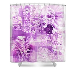 Purple Mask Craziness Shower Curtain