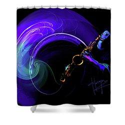 Purple Moon Shower Curtain