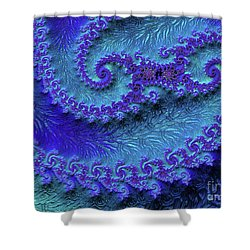 Purple Mountain Fjords Shower Curtain