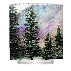 Purple Mountain Majesty Shower Curtain by Scott D Van Osdol