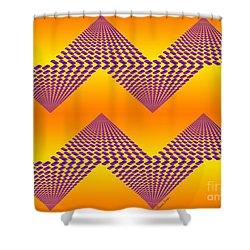 Purple Mountains Shower Curtain