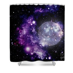 Purple Nebula Shower Curtain