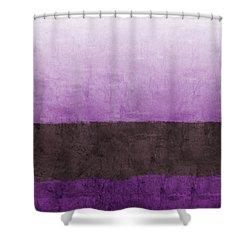 Purple On The Horizon- Art By Linda Woods Shower Curtain