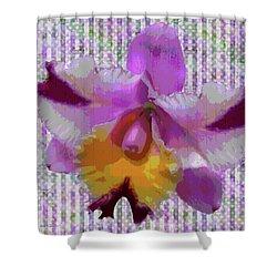 Purple Orchid Design Shower Curtain by Rosalie Scanlon