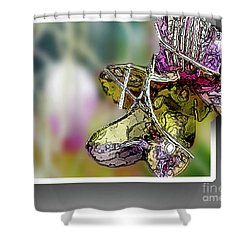 Purple Orchid Pop Shower Curtain by Deborah Nakano