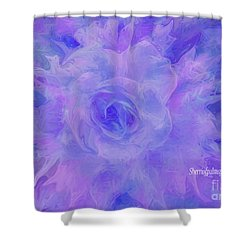 Purple Passion By Sherriofpalmspringsflower Art-digital Painting  Photography Enhancements Tradition Shower Curtain