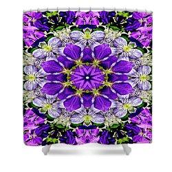 Purple Passion Floral Design Shower Curtain
