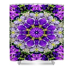 Purple Passion Floral Design Shower Curtain by Carol F Austin