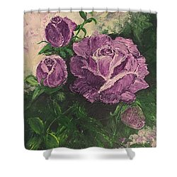 Purple Passion Shower Curtain by Lucia Grilletto