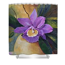 Purple Passion Orchid Shower Curtain