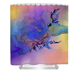 Shower Curtain featuring the painting Purple Passion Peony by Hanne Lore Koehler