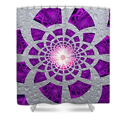 Purple Patched Shower Curtain