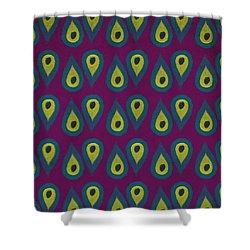 Purple Peackock Print  Shower Curtain