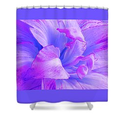 Purple Petals Abstract Shower Curtain by Gill Billington