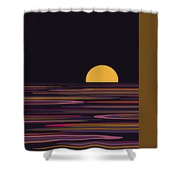 Purple Pond Reflections Shower Curtain