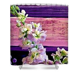 Purple Purple Everywhere Shower Curtain by Marsha Heiken
