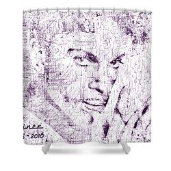 Purple Rain By Prince Shower Curtain