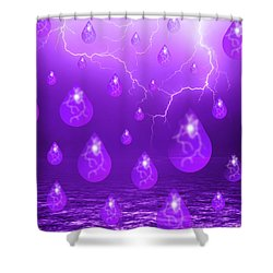 Shower Curtain featuring the photograph Purple Rain by Shane Bechler