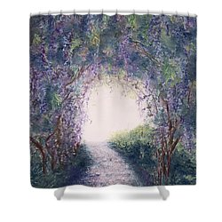 Shower Curtain featuring the painting Purple Rain by Stanza Widen