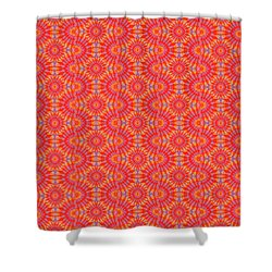 Shower Curtain featuring the painting Purple Red Maze by Kym Nicolas