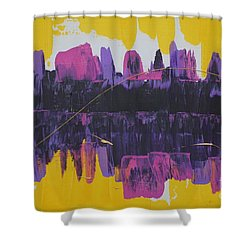 Purple Reflections Shower Curtain