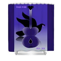 Purple Reign 1958-2016 Shower Curtain