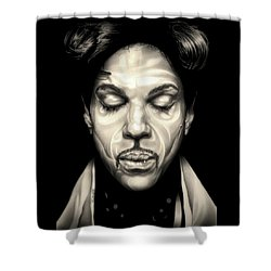 Purple Reign Shower Curtain by Fred Larucci