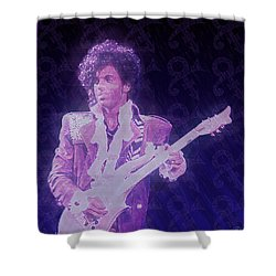 Purple Reign Shower Curtain by Kenneth Armand Johnson